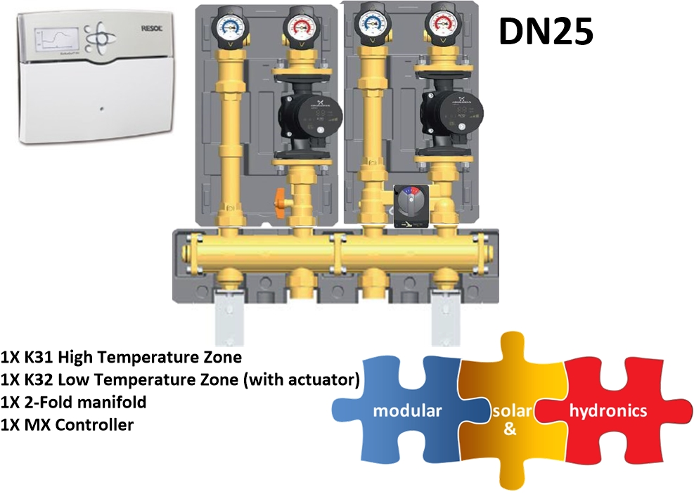 DN25 1 high 1 low zone new pump image